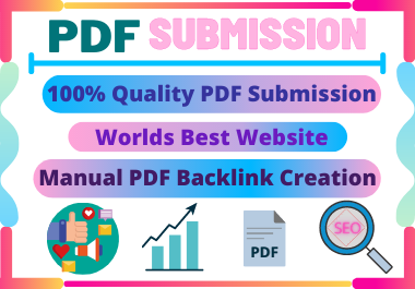 20 PDF Submission low spam score high authority permanent backlinks