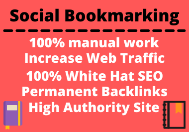 25 Social Bookmarks High authority natural permanent link building