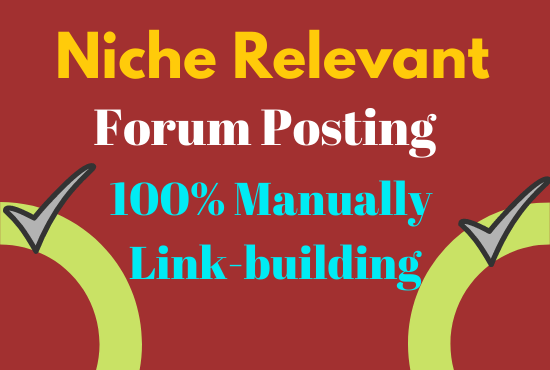 High Quality Forum Posting With promote Website