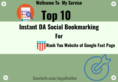 Instant TOP 10 Manual Social Bookmarking DA For Rank Your Website in 24 hours