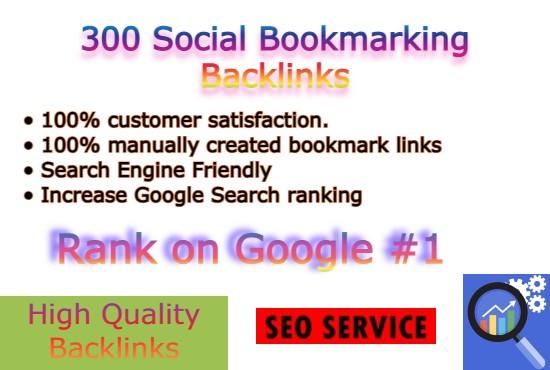 I will do Manually 300 social bookmarking backlinks