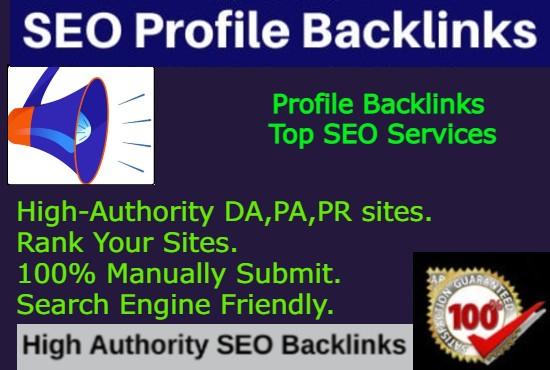 I will create 40 high authority seo profile backlinks
