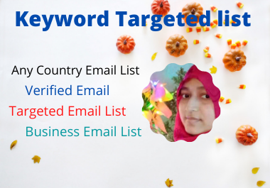 I will collect niche targeted email list.