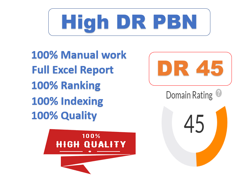 I will quality dofollow SEO backlinks 50 DR 40 plus authority white hat link building