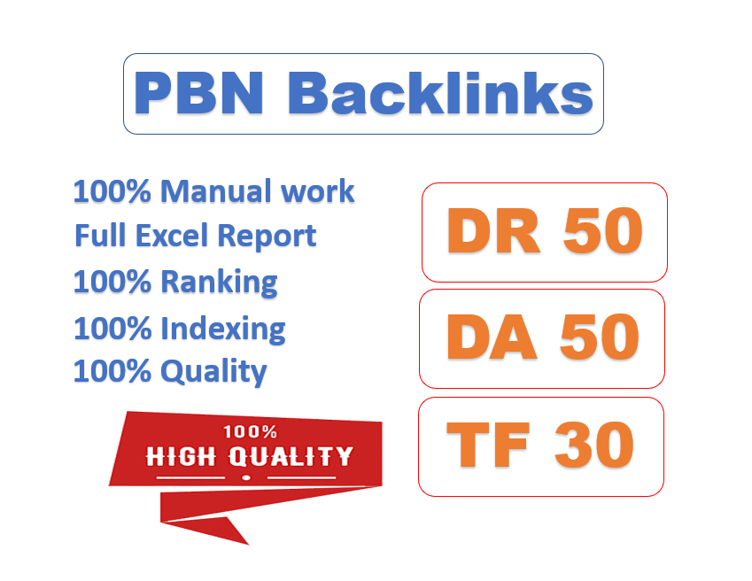 I will post 10 high quality pbn links with high DR,  da pa,  tf cf