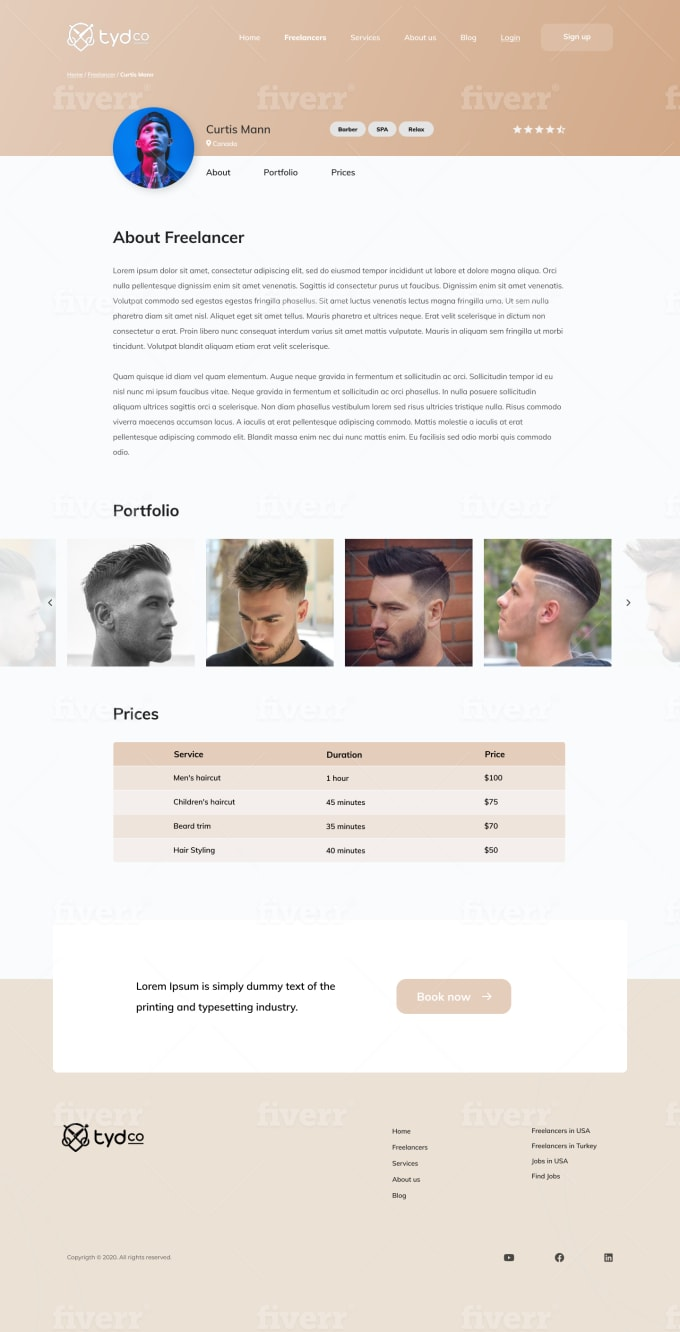 I will design a creative and unique website in html, CSS, bootstrap & JavaScript