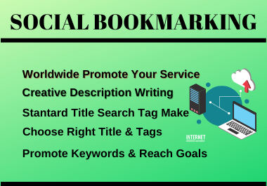 20 Social Bookmarking,  Manualy Social Bookmarking Submission with High-Quality Backlinks