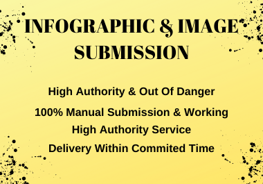 I will do manual infographic & image submission in top 20 high DA & PA sharing sites