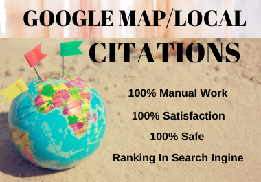I will do 500 Google Maps Citations for local business SEO with pinpoint