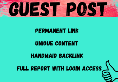 Write and publish 10 Guest Post high authority websites unique article