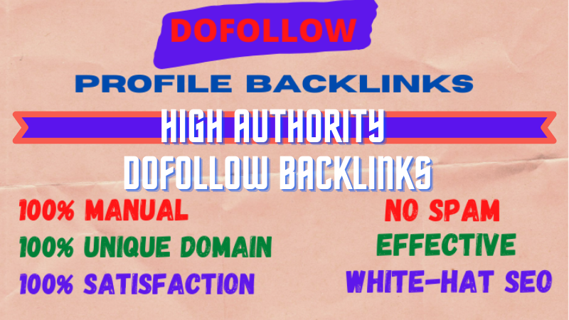 High Authority 200 Dofollow Profile Backlinks