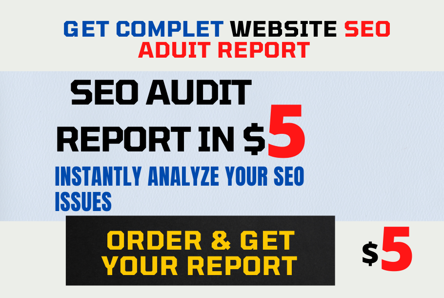 i will create instantly your website seo audit result