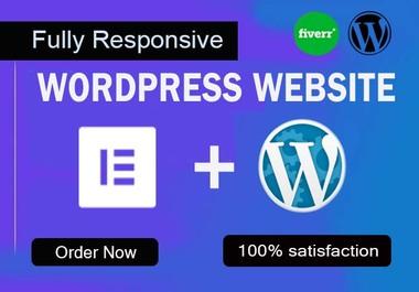 I will design elementor pro wordpress website or landing page using elementor