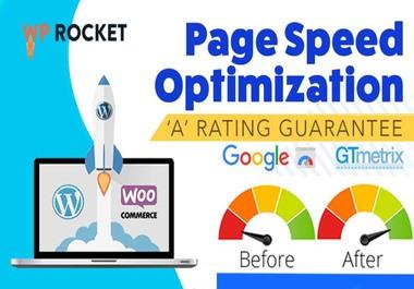 I will Speed optimization WordPress website and improve gtmetrix,  google page speed score