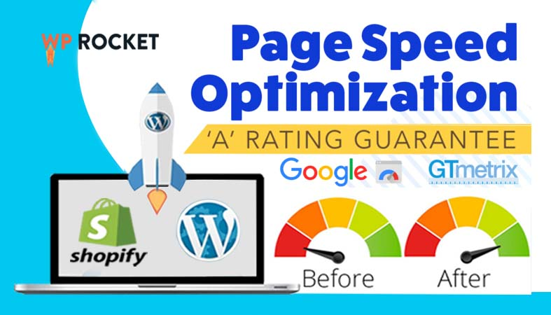 I will increase page speed optimization wordpress website and shopify website