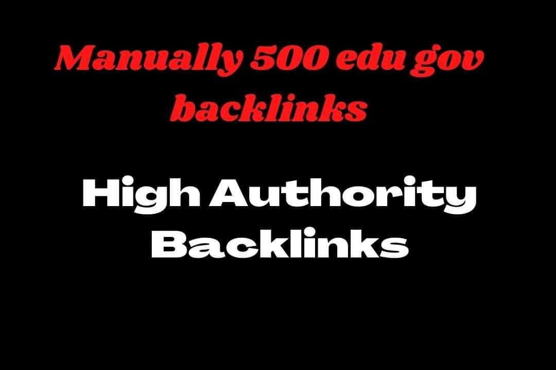 Add create Manually 500 edu/ gov Backlinks High domain Authority