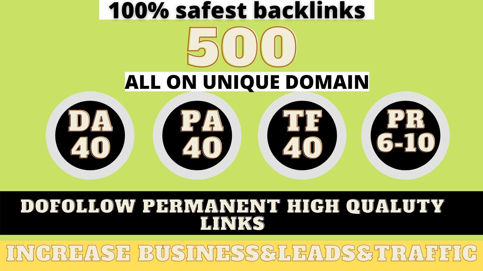 build 500+ Permanent Web2.0 Backlink with High DA/PA/TF/CF On your homepage with unique website