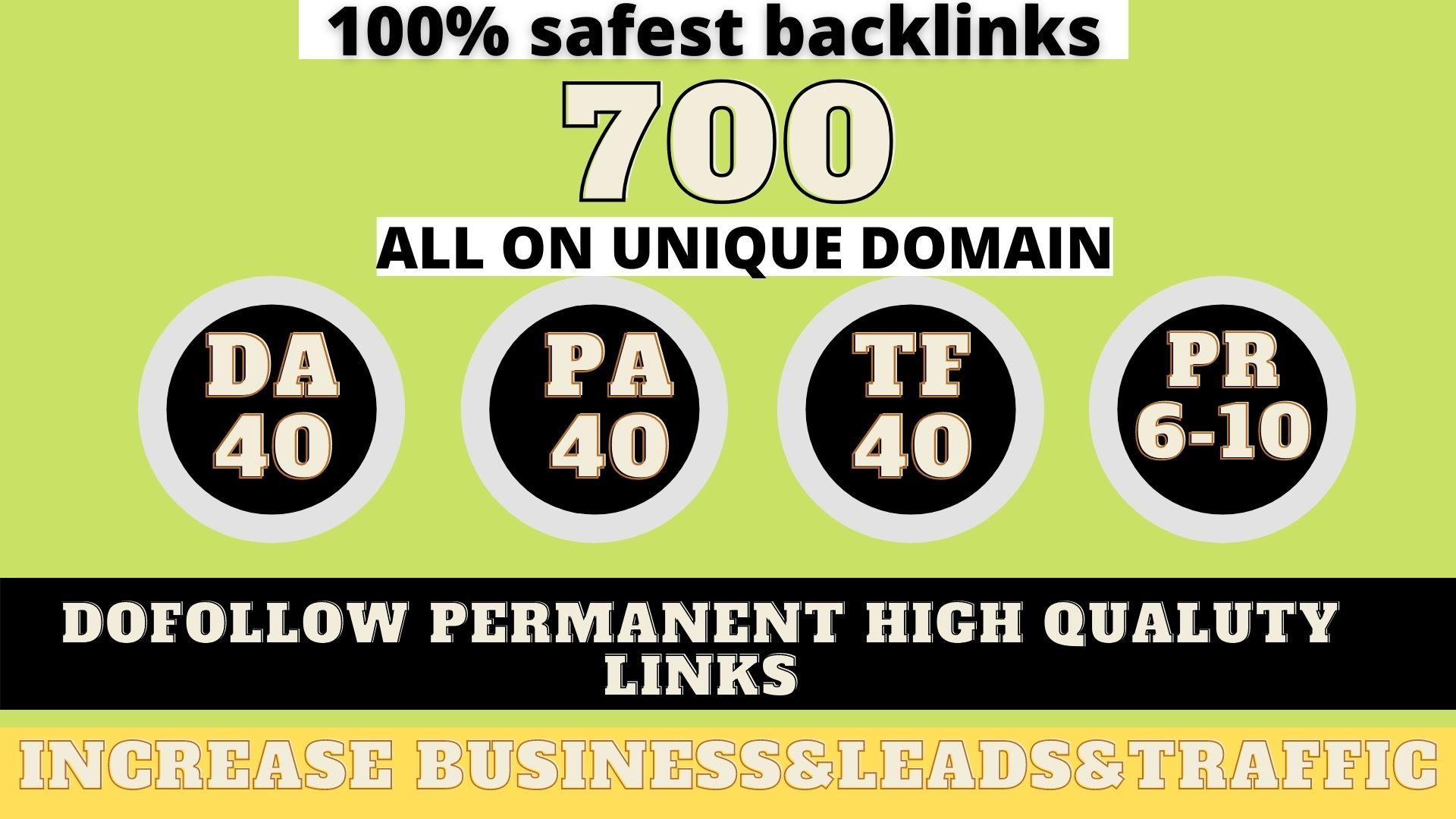 build 700+ Permanent Web2.0 Backlink with High DA/PA/TF/CF On your homepage with unique website
