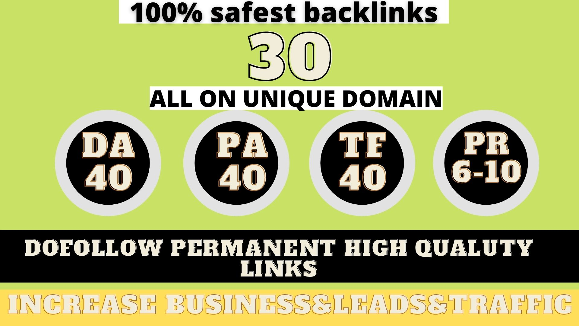 build 30+ Permanent Web2.0 Backlink with High DA/PA/TF/CF On your homepage with unique website