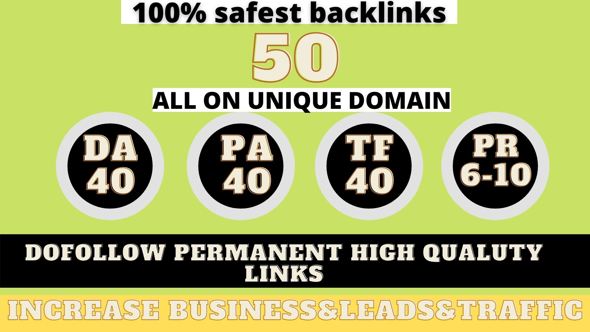 build 50+ Permanent Web2.0 Backlink with High DA/PA/TF/CF On your homepage with unique website Lat