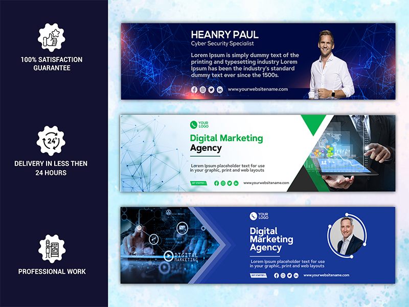 I will do professional linkedin cover and banner design