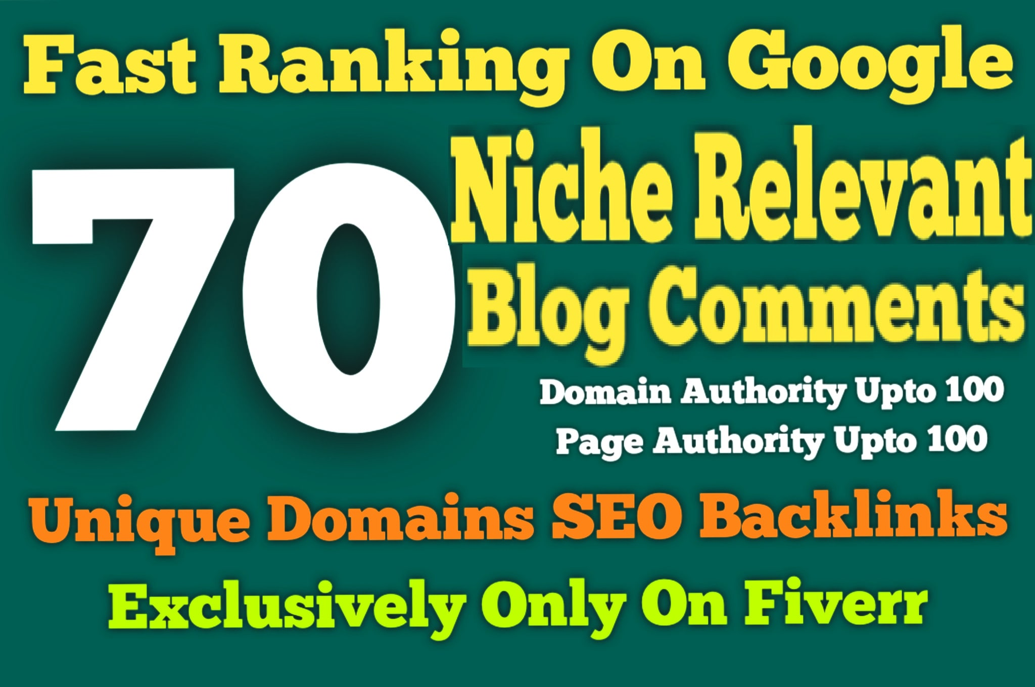 I will create 70 manual niche relevant blog comment backlinks