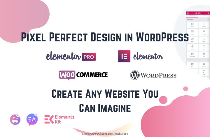 I will be your elementor expert for wordpress website by elementor pro
