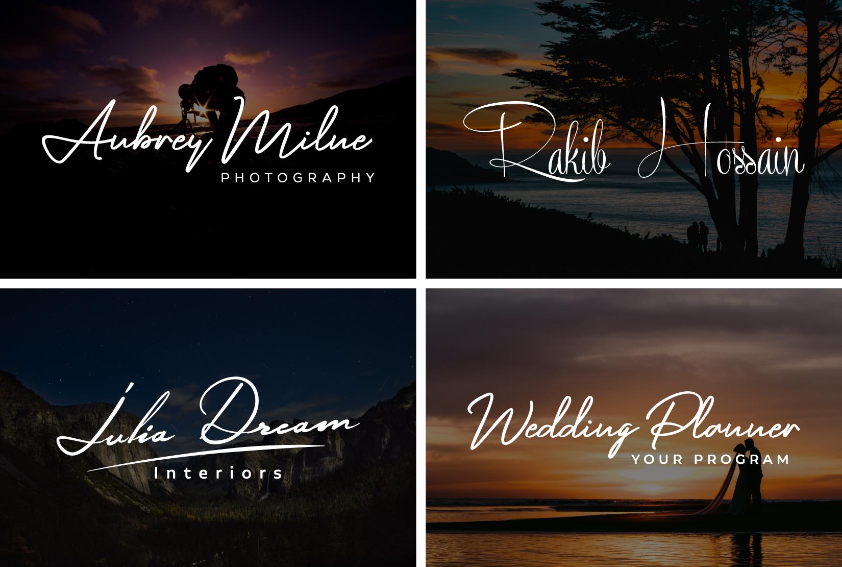 I will design professional business signature logo