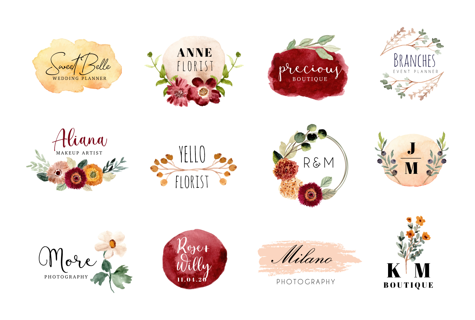 I will do awesome signature and watercolor feminine logo design