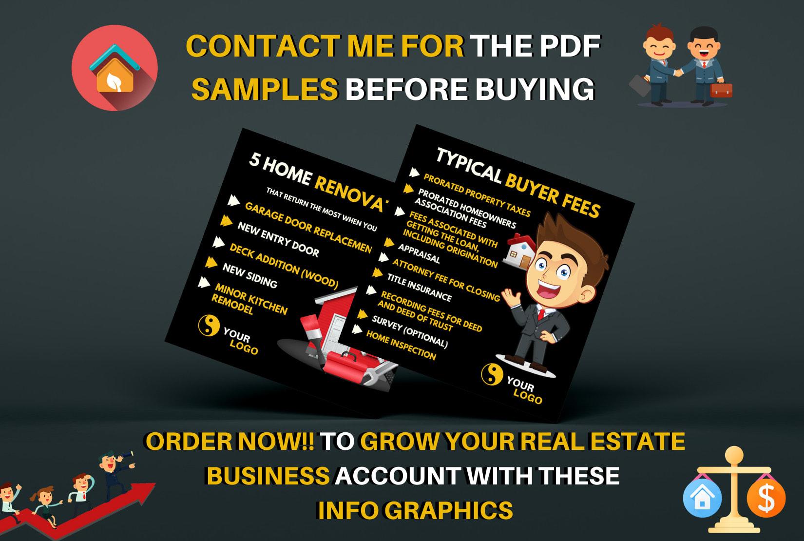 I will design 100 real estate infographics for instagram post