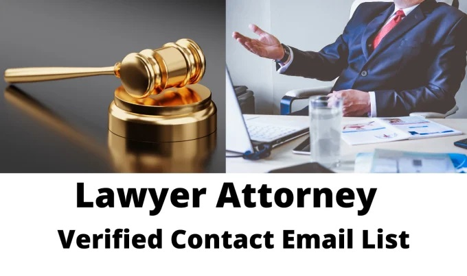I will build lawyer,  attorney contact email list 100 leads
