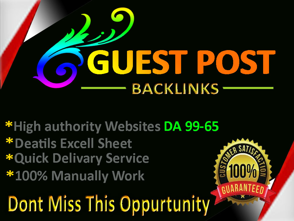 Published 5 Guest Posts Service With High Authority Dofollow Websites Includes DA 94-65 Plus