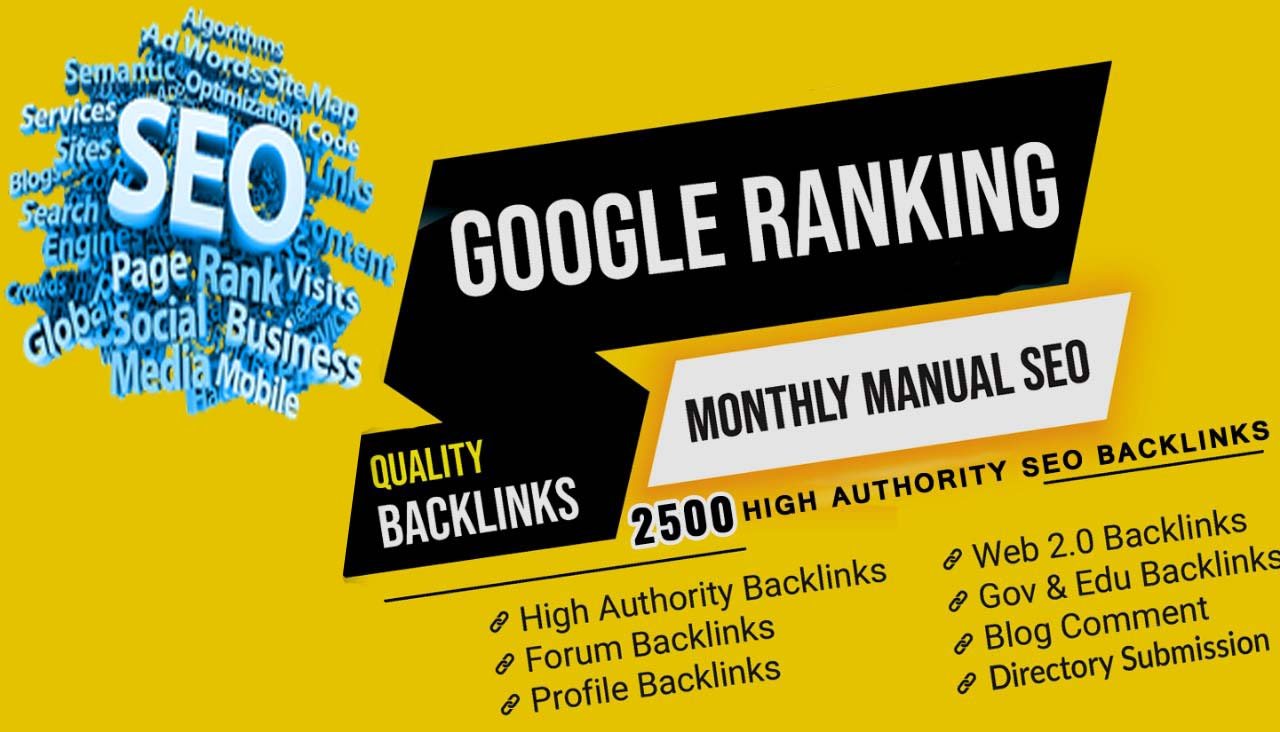 I will build 2500 high quality dofollow backlinks link building for top ranking