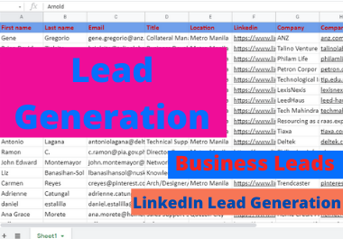 I will do B2B Lead Generation from LinkedIn and web research