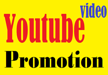 For Your youtube service Promotion
