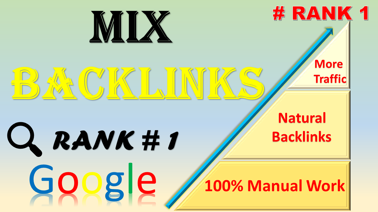 Manually 100 mixed backlinks High Authority Permanent link building boost your website