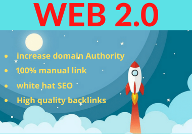 manually 25 Web2.0 permanent Backlinks high authority link building