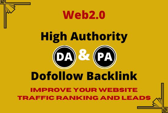 I will give 10 High Authority DA PA Web2.0 Backlinks to create huge web traffic