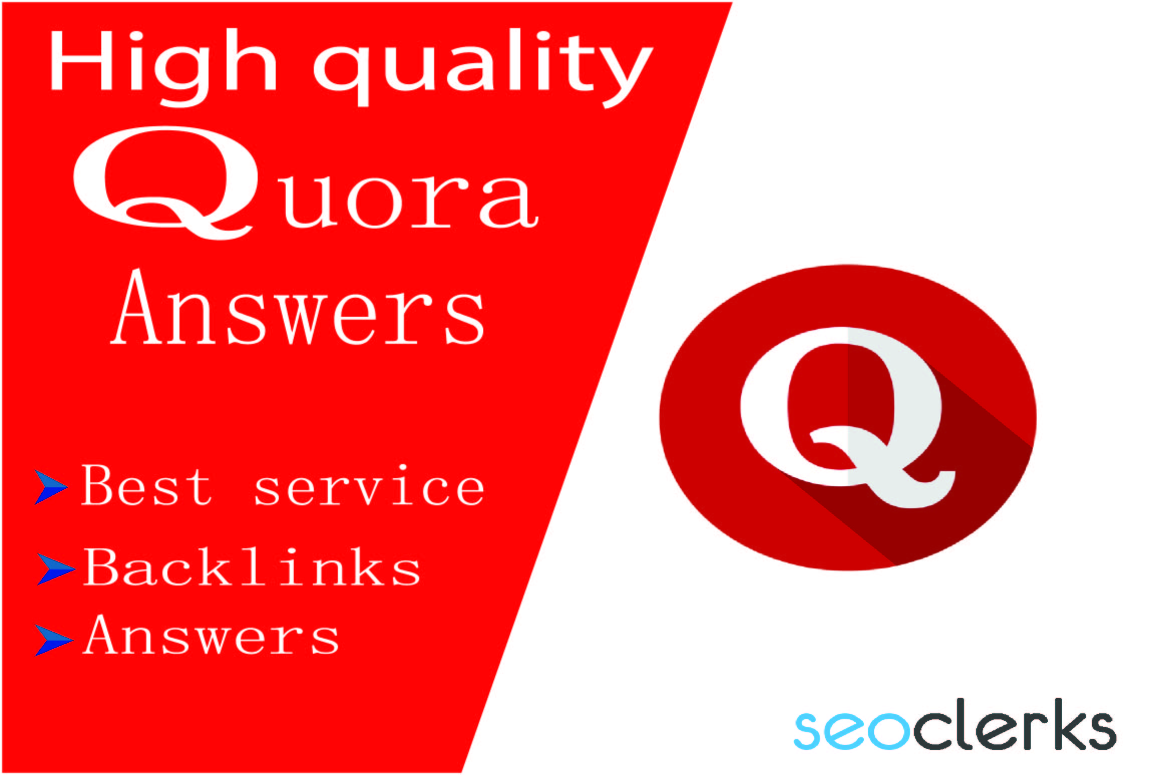 Promote your website by 20+ HQ Quora answers.