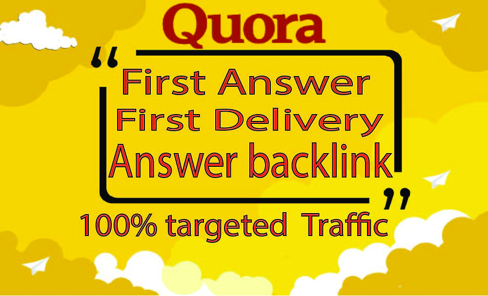 I will provide 25 HQ Quora answer with backlink to get traffic your website.