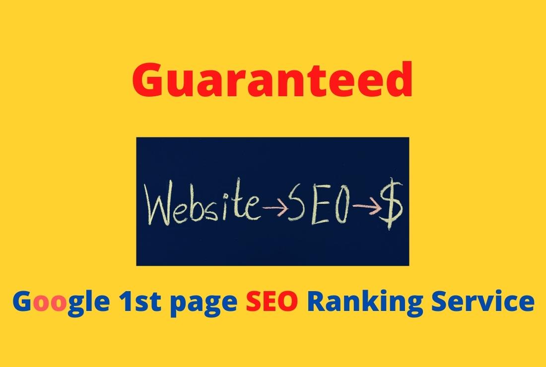 Guaranteed google 1st page SEO ranking service with 6 keywords