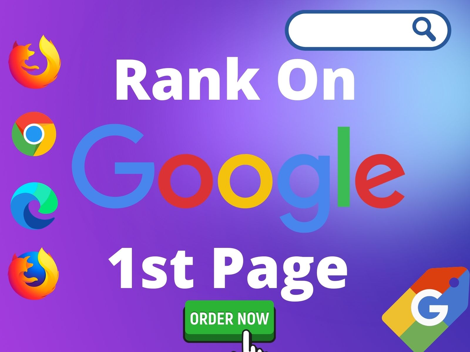 Offer guaranteed Rank your Website on Google 1st Page with High Quality Backlinks