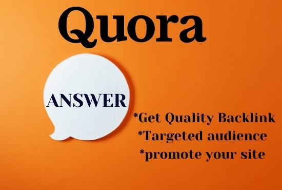 Write and publish 12 High quality quora answer with your website URL