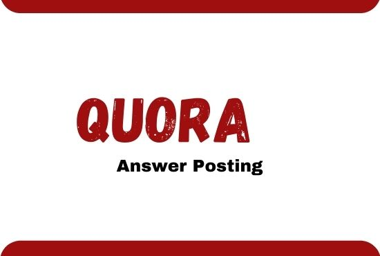 I will give you 15 high quality Quora answer with backlink