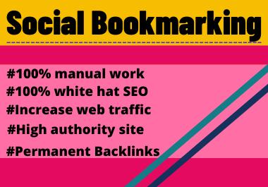 30 Social Bookmarks High Authority Permanent dofollow backlinks unique link building