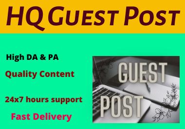 10 High Authority Guest Post Unique Content permanent backlinks