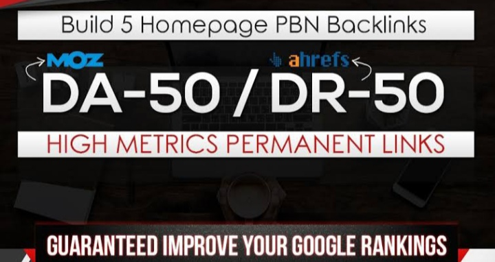 Publish 5 High Quality DR 55+ / DA 55+ Homepage PBN Backlinks To Skyrocket you SERP