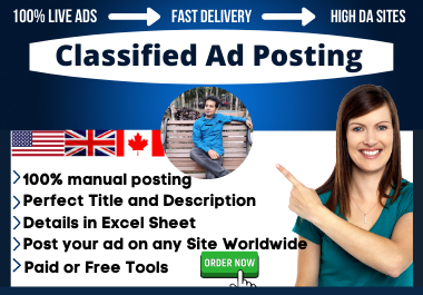 I will submit 40 high PR sites USA classified ad posting manually
