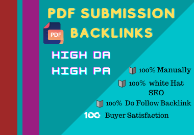 Submit PDF submission To 20 High Authority backlink site for website.
