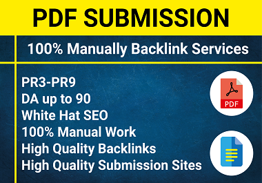 Manual 25 PDF Submission backlinks with top sharing sites